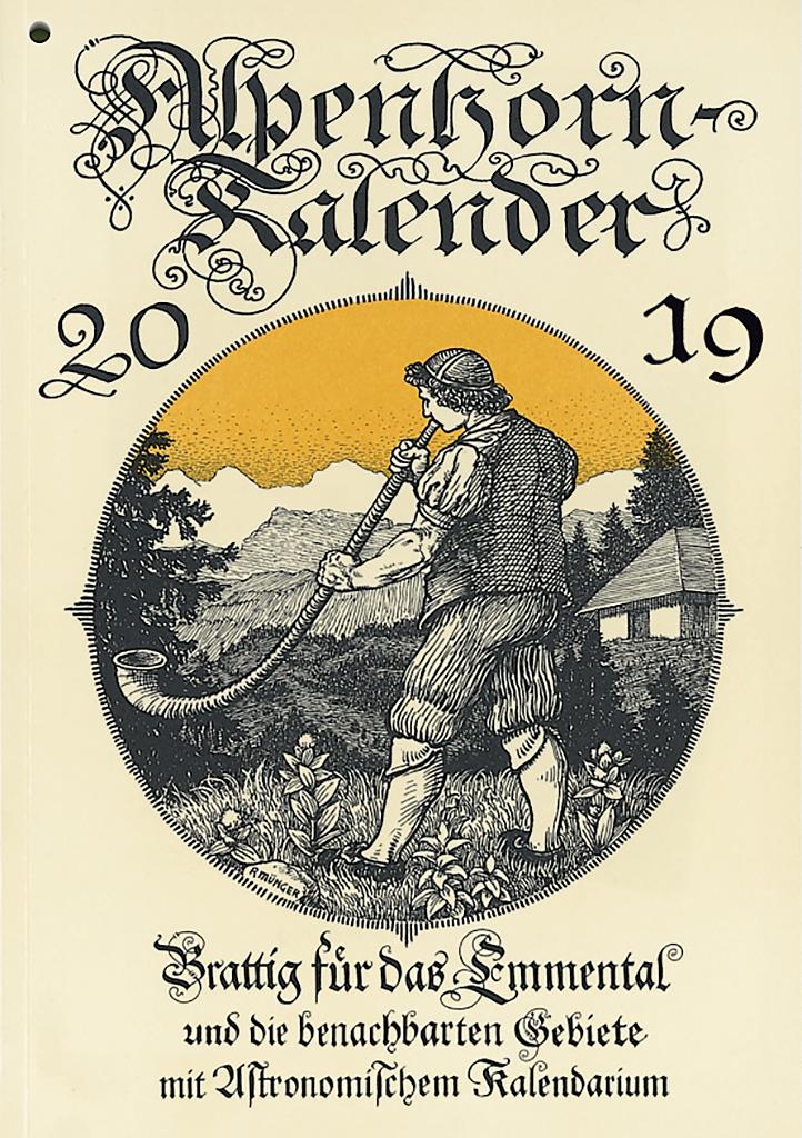 Alpenhorn Kalender 2019, die Brattig